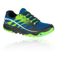Merrell All Out Charge Mens Green Blue Trail Running Sports Shoes Trainers