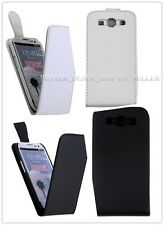 White/Black Slim PU Leather Flip Pouch Case Cover For Samsung Galaxy S3 i9300