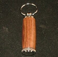 Black Poisonwood Pill or Toothpick Keychain in Chrome or 10k Gold Plating