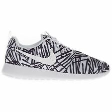 Nike Women's Roshe One Print Low Top Running Casual Sports White/Black Trainers