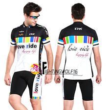 Man Rainbow Bicycle Cycling Jersey Sets Suits Clothing Short Sleeves & Shorts