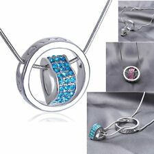 Chic Ring Heart Love CZ Crystal Choker Statement Bib Chain Necklace Pendant Gift