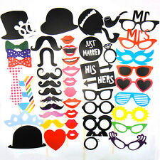 Photo Booth Props Moustache Sticker Wedding Christmas Birthday Party DIY Tools