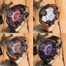 Fashion Cool Men's Luxury Sport Watch Leather Analog Quartz Outdoor Wrist Watch