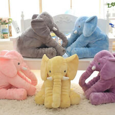 Cute Baby Animal Elephant Placate Doll Stuffed Plush Pillow Kids Room Bed Toys