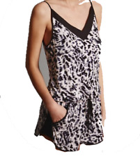 Brand New Ex Marks & Spencer Autograph Animal Print Playsuit Sizes 6-22