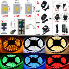 HOT 5M-20M SMD 3528 5050 5630 300 LED Strip Light Flexible +Remote+Power Supply