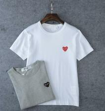 Mens Comme Des Garcons CDG Play Classical Red Heart Cotton Short Sleeve T-shirts