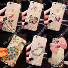 Luxury Bling Crystal Diamond Rhinestone Hard Clear Case Cover For Mobile Phones