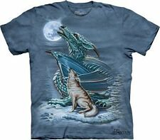 Dragon Wolf Moon Adult T-Shirt by The Mountain - 103194