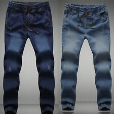 Fashion Men's Boy's Denim Pants Straight Slim Fit Jeans Casual Skinny Trousers