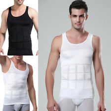Men Body Slimming Tummy Shaper Belly Underwear Shapewear Waist Girdle Vest Shirt