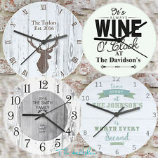 Personalised Wall Clock Birthday Home Housewarming Gift Idea & Kids Wall Clocks