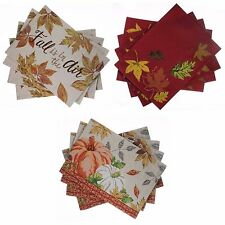 Harvest Season Fall Thanksgiving Seasonal Tapestry Placemats - Sets of 4