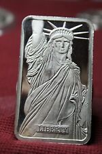 VERY  RARE +++++ 1982 MTD JOHNSON & MATTHEY LADY LIBERTY 5 OZ. .999 SILER BAR