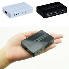 Fashion HDMI Splitter 3 Ports Hub Box Auto Switch 3 In 1 Out Switcher 3D 1080p