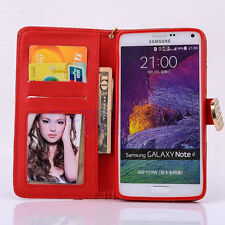Premium Leather Handbag Wallet Case Bling Diamond For Samsung Galaxy Note 4 K6