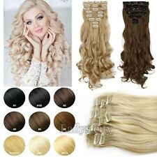 100% Sexy Thick 8Piece 18 Clips Full Head Clip in As Human Hair Extensions T2i