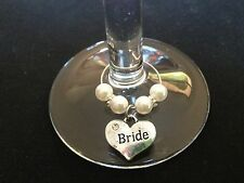 "1pc Wine Glass charm "" bride, groom, bridesmaid + many more wedding favors"
