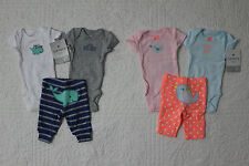 NEW CARTERS 3 PIECE PREEMIE OUTFIT SET BODYSUIT PANTS BOY OR GIRL STYLES