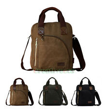 New Men's Washed Canvas Briefcase Crossbody Messenger Shoulder Handbag Tote Bag