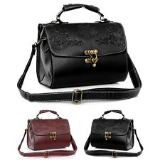 PU Leather Vintage Retro Women Shoulder Bag Satchel Handbag Tote Purse Messenger