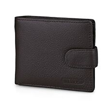 Genuine Leather Cowhide Bifold Wallet ID Credit Card Holder Coin Purse SCA