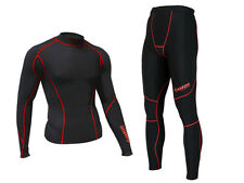 Zimco Winter Compression Jersey & Tight Thermal Under Top Shirts Skins Pants B/R