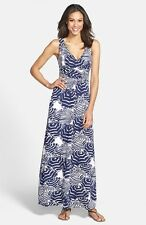 LILLY PULITZER Sloane Maxi Dress OH CABANA BOY Bright Navy XS ($198) NWT Blue