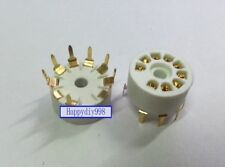 9-pin Vacuum Tube Gold plated ceramics Sockets for 12AX7 12AU7 GZS9-Y-G