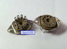 9-pin Vacuum Tube silver plated bakelite Sockets for 12AX7 12AU7 GZS9-F1