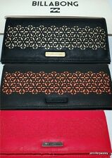 BILLABONG WALLET PURSE CLUTCH NEW MAYFAIR GOLD, RED, CORAL Faux Leather Trifold