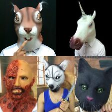 Hot Funny Animal Zombie Head Mask Cosplay Halloween Costume Comedy Theater Prop