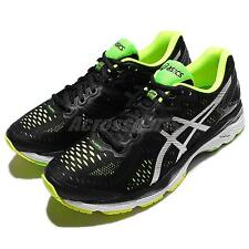 Asics Gel-Kayano 23 Black Silver Mens Running Shoes Sneakers Trainers T646N-9093