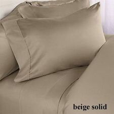 NEW BRAND BEIGE  1000TC EGYPTIAN COTTON COMPLETE BEDDING COLLECTION SHEET SET