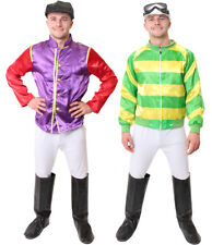 ADULT JOCKEY COSTUME MENS HORSE RACING FANCY DRESS TOP TROUSERS GOGGLES BOOTS