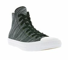 NEW Converse All Star Chuck Taylor II Hi Shoes Trainers Black Sports