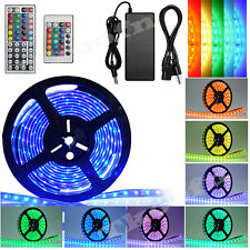 10/20M SMD 5050/3528 RGB 150/300/600 LED Strip Adapter IR Remote Waterproof Kit