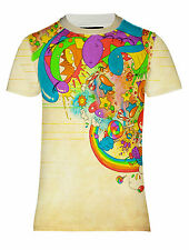 NEW MULTICOLOR CARTOON VINTAGE RETRO ANIME FUNNY ABSTRACT HD PRINTED T-SHIRT