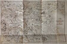 Map Of The Lakes Of Cumberland, Westmorland & Lancashire c1829 Antique Map Rare