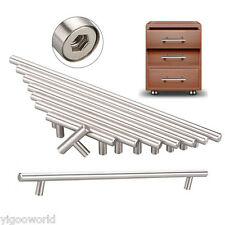 T Bar Stainless Steel Kitchen Cupboard Cabinet Drawer Pulls Knobs Door Handles