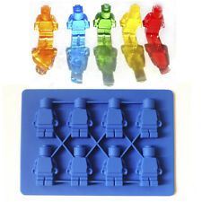 1PCS  Lego Lover Silicone brick & Robot ICE Cube Candy Chocolate Cake Soap Mold