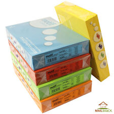 A4 COLOURED PAPER 80gsm Blue Green Red Yellow Orange Colour Craft Copier Sheets