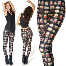 Women Sexy 3D Graphic Printed Pattern Stretch Elastic Punk Leggings Tight Pants