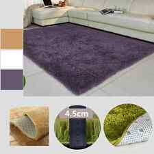 Extra Large Modern Plain 4.5cm Shaggy Rugs Thick Soft Pi Area Rug Mats AG