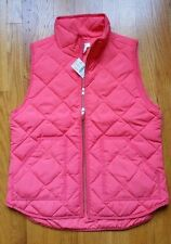 NWT J.Crew factory Excursion Quilted Novelty Puffer Vest Bohemian Red M L