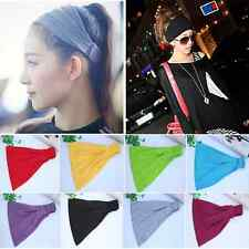 Soft Bandana Headband Elastic Hair Wrap Hairband Women Yoga Headwrap Turban US