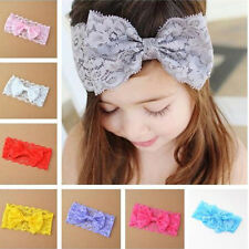 Hot Newborn Girl Baby Headband Toddler Lace Cloth Bow Hairband Flower Hair Band