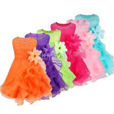 Flower Girl Princess Petal Dress Toddler Baby Wedding Party Pageant Tutu Dresses