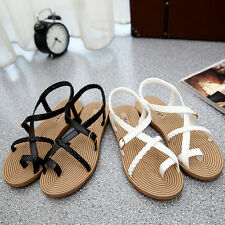Women Summer Fashion Beach Flat Flip-flop Sandal Slipper Rhinestone Shoes SUS
